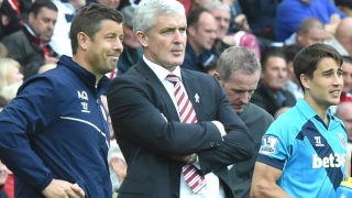 ​Stoke manager Hughes denies Crystal Palace manager job claims