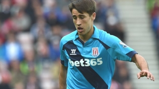 Stoke boss Hughes delighted with Bojan condition
