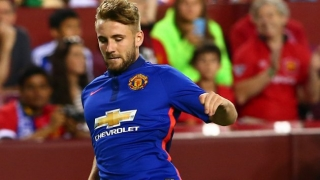 Man Utd fullback Shaw excited facing Barcelona, PSG