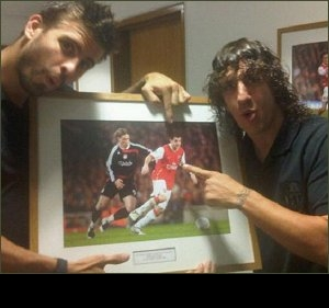 Barcelona stars Pique, Puyol risk Wenger wrath with Arsenal hijinks