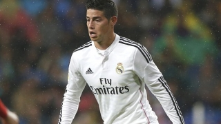 James thrilled with Real Madrid brace