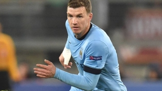 Agent denies Roma talks for Man City striker Dzeko