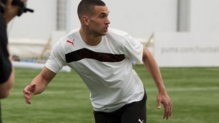 Steven Caulker training with Wigan