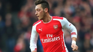 Arsenal midfielder Mesut Ozil excited facing Man United