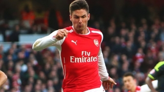 ​Arsenal forward Giroud relaxed at lack of game-time
