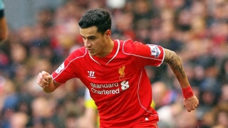 Liverpool ace Coutinho out of Man Utd clash