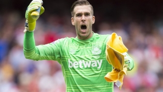 WATCH: West Ham striker Carroll takes the mickey out of keeper Adrian