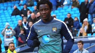 LOAN PAIR: Man City striker Bony, Porto defender Martins Indi at Stoke training ground