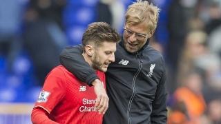 Adam Lallana back in full training at Liverpool