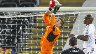 Stoke goalkeeper Butland: No falling out with Camp