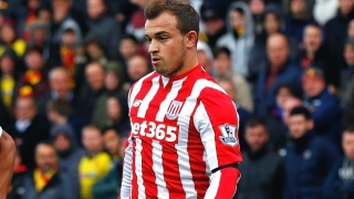 Shaqiri happy to be with Stoke