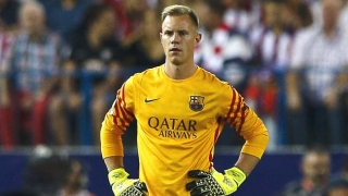 Barcelona goalkeeper Ter Stegen happier without Bravo competition