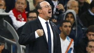 Atletico Madrid fans chant: Benitez stay! Benitez stay!