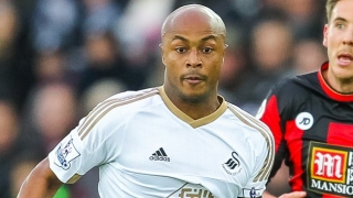 Swansea forward Ayew pleased with Crystal Palace loan move
