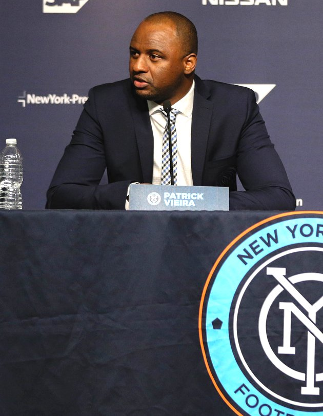 Arsenal assured they can speak with New York City FC coach Vieira