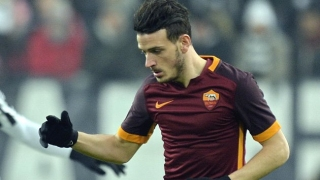 Roma midfielder Alessandro Florenzi breaks down in training