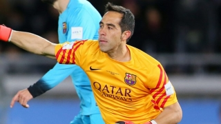 Barcelona keeper Claudio Bravo in England today for Man City medical