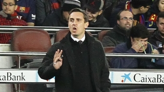 Valencia coach Neville pushed THREE TIMES about resigning