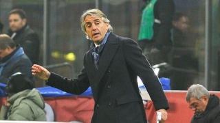 Inter Milan coach Roberto Mancini reacts to resignation rumours...