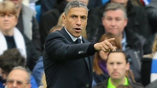 Brighton manager Hughton remains hellbent on striker signing