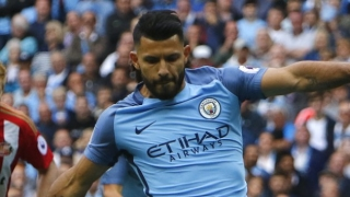 Man City boss Guardiola confident goalscorer Aguero happy