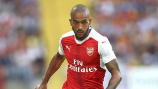 Arsenal attacker Theo Walcott on Merseyside today for Everton medical