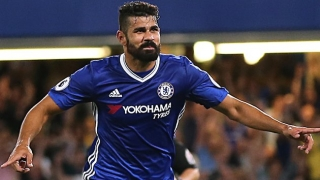 Chelsea striker Diego Costa clears out of his Surrey home