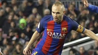 Barcelona captain Iniesta happy for Marlon Santos after debut