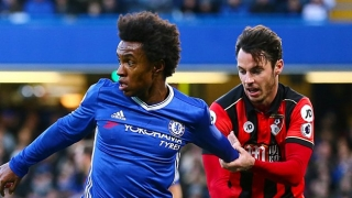 Chelsea ace Willian concedes catching Man City 'difficult'