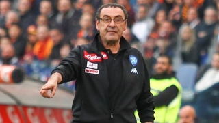 Agent for Napoli coach Sarri in Chelsea talks