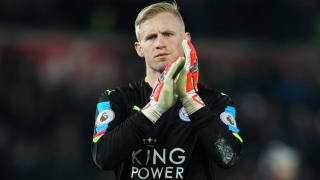 Leicester keeper Schmeichel not pining for Man Utd move
