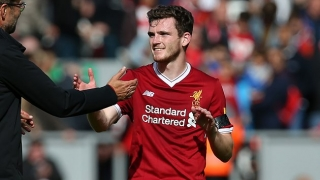 Liverpool boss Klopp: The best I've seen from Robertson. He took a big step