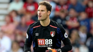Bournemouth goalkeeper Asmir Begovic happy where he is