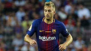 Messi in ear of Deulofeu during Barcelona triumph