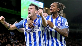 Brighton matchwinner Locadia delighted for debutant Button