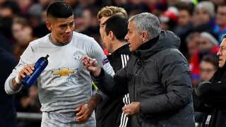 Man Utd defender Rojo training with Estudiantes