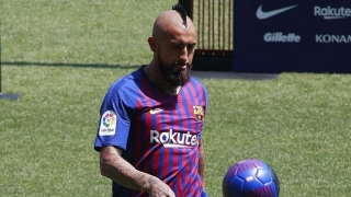 Son of Arturo Vidal trials with Barcelona academy