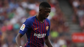 Barcelona coach Valverde insists he's happy working with Dembele