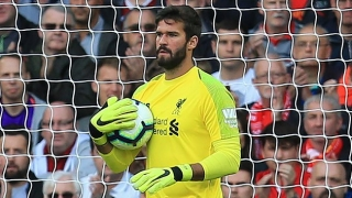 Alisson giving up No13 shirt at Liverpool