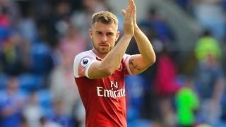 SNAPPED: Aaron Ramsey pulls on Juventus shirt for first time