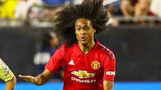 Shola Shoretire (14) makes history for Man Utd in Europe