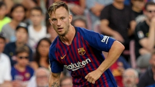 Barcelona midfielder Rakitic happy for Braithwaite after winning debut