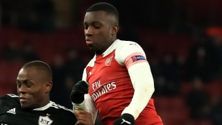 Eddie Nketiah vows to fight for Arsenal place
