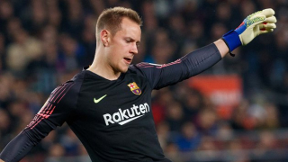 Barcelona goalkeeper Ter Stegen cools Bundesliga return talk