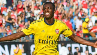 ​Leicester boss Rodgers: Arsenal youngster Nketiah didn't mean red-card challenge