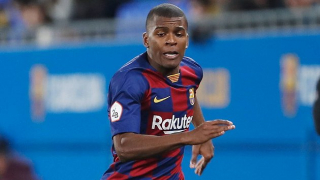 Barcelona fullback Sergio Akieme on his way to Almeria