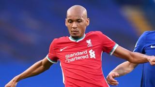 Liverpool goalkeeper Adrian hails Fabinho for centre-half performance