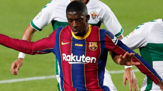 Barcelona striker Braithwaite delighted with victory over Ferenvaros: No problem with Dembele