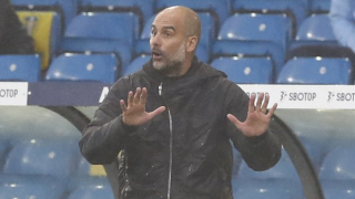 Man City boss Guardiola questions why football okay to continue in UK lockdown