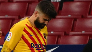 Pique in tears as Barcelona fear defender's season is OVER